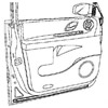 garniture de porte arrière gauche d'occasion disponibles à la vente | Casse auto à Rouen